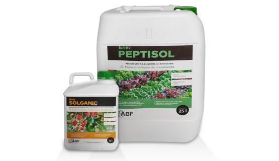 fertilizantes organicos hidrolizados abf: Peptisol y Solganic
